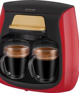 Kohvimasin Sencor kahele tassile SCE2101RD punane