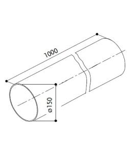 Õhupuhastaja ümmargune ühendustoru 150 mm 100 ..